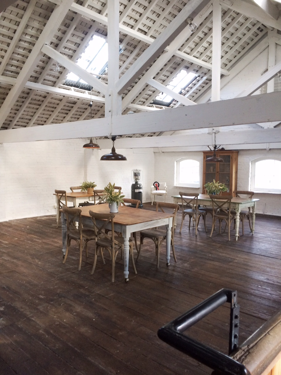 Beautiful open floor plan work space or shop at The Black Hen.  Photographed by Marley & Lockyer  ||  Friday Favorites at www.andersonandgrant.com